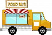 stock photo of food truck  - food truck isolated on white - JPG