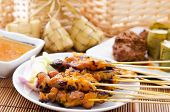 stock photo of malay  - Chicken satay - JPG