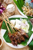 pic of sate  - Satay or sate - JPG