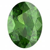 picture of alexandrite  - Gemstone on white background  - JPG
