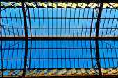 Trainstation In Wiesbaden, Glass Of Roof Gives A Beautiful Harmonic Structure