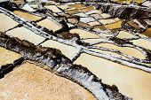 stock photo of salt mines  - Peru Salinas de Maras Pre Inca traditional salt mine  - JPG