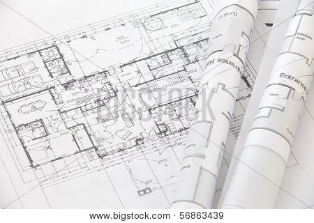 Architect rolls and plans architectural plan poster