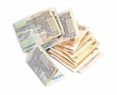 Indian Rupee bank notes background