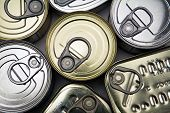 picture of hermetic  - Tins of different sizes and closed isolated on white background - JPG