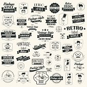 stock photo of ribbon  - Set of vintage retro labels - JPG