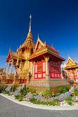 stock photo of crematory  - Thai pavilion for royal Thai family - JPG