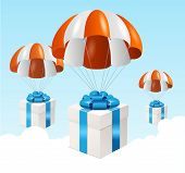 pic of parachute  - Vector parachute background - JPG