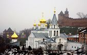 Winter January View Of Church Elijah The Prophet And Kremlin Nizhny Novgorod