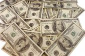 pic of dowry  - Several hundred dollar bills loosely or carelessly strewn about - JPG