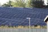 foto of arsenic  - system of cells of solar photovoltaic panels - JPG