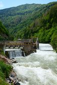 stock photo of hydro  - Small hydro power plant in Turkey - JPG