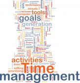 picture of goal setting  - Word cloud concept illustration of time management - JPG