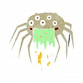pic of grossed out  - cartoon gross halloween spider - JPG