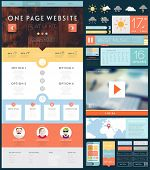 picture of wood design  - One Page Website Design Template with UI Elements kit - JPG