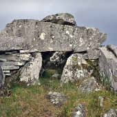 picture of megaliths  - Cloghanmore is a megalithic chamber tomb of the court tomb  - JPG