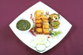 pic of paneer  - paneer tikka in plate for dinner time at home - JPG