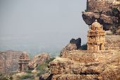 pic of rock carving  - Rock carved temples at Badami - JPG