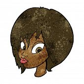 pic of pouting  - cartoon pretty female face pouting - JPG