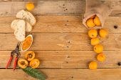 foto of loquat  - Still life with freshly harvested loquats and homemade marmalade - JPG