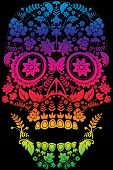 stock photo of day dead skull  - Day of the Dead Sugar Skull Design - JPG