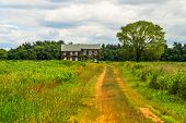 image of battlefield  - The historic Molly Pitcher Home in Monmouth Battlefield State Park in Freehold NJ - JPG