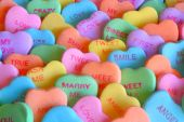 stock photo of valentine candy  - Full frame image of a favorite Valentine candy - JPG