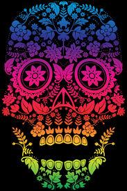 foto of day dead skull  - Day of the Dead Sugar Skull Design - JPG