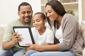 foto of settee  - African American family - JPG