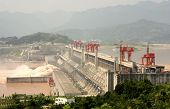 image of dam  - The Biggest Hydroelectric Power Station in the World  - JPG
