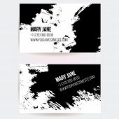 stock photo of scribes  - Set of creative business card templates with artistic vector design - JPG