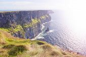 stock photo of cliffs moher  - Cliff of Moher in County Clare Ireland  - JPG