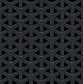 image of metal grate  - Dark abstract vector background with a metal grid - JPG