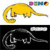 pic of dinosaur skeleton  - doodle dinosaur - JPG
