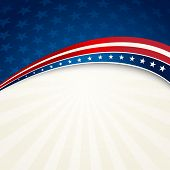 stock photo of patriot  - Vector illustration Independence Day patriotic background star pattern - JPG