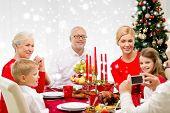 picture of christmas dinner  - family - JPG