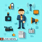 pic of mass media  - news and mass media vector concept - JPG