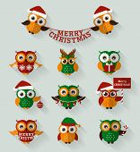 image of snow owl  - Merry Christmas - JPG