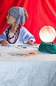 stock photo of fortune-teller  - particular of fortune teller - JPG
