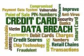 image of stolen  - Credit Card Data Breach word cloud on white background - JPG
