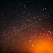 foto of starry night  - Natural Real Night Sky Stars Background Texture - JPG
