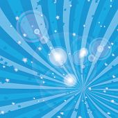 stock photo of blue  - Vector shiny blue rays background  - JPG