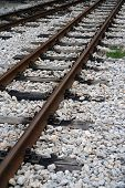 picture of train track  - Railroad tracks - JPG
