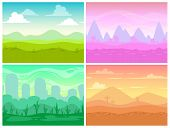 Постер, плакат: cartoon landscapes