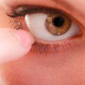 stock photo of human eye  - Part of face female eyes - JPG