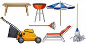 stock photo of household  - Different kind of household objects - JPG