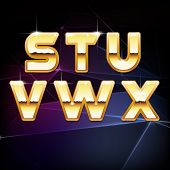 image of swag  - Vector Golden Shiny Alphabet for your designs - JPG