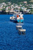 image of off-shore  - Boats off the beautiful coast of St Kitts - JPG
