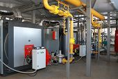 pic of boiler  - Interior and the equipment of a modern gas boiler - JPG