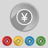foto of yuan  - Japanese Yuan icon sign - JPG